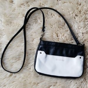 Kenneth Cole Leather Color Block Crossbody Bag